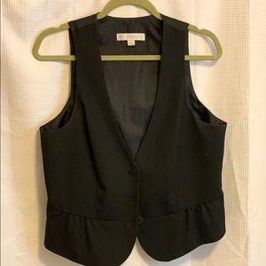 Adorable classic feminine black vest!